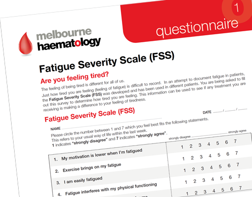 Melbourne Haematology Fatigue Severity Scale (FSS)  - Questionnaire For Patients